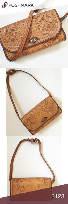 Vintage Genuine Leather Purse🌼 Vintage Genuine Leather Purse -Beautiful Embroidered Floral design -Inside lined with a burgundy suede/velveteen. -I'm thinking the brand is D.C. -I am absolutely in love with this purse! It's the perfect vintage piece to have!   -In Mint condition! 💕 Vintage Bags