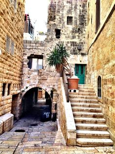 FROM the streets of old Jerusalem,Palestine Jerusalem Israel, Israel Palestine, Beautiful Streets, Beautiful Places, Naher Osten, Israel Travel, Old Street, Earthship, Holy Land