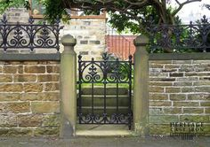 Finely crafted, traditional decorative Victorian cast iron gates and fences are unique to the ornamental metal marketplace because they are ready to install, no fabrication required.