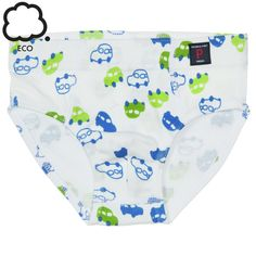 Blue green Car Print Boys Briefs colourful underpants for kids  soft, quality cotton kids boxer shorts with all over car print.  - 100% cotton - Soft seams that do not chafe - Can take a bacteria busting 60C wash