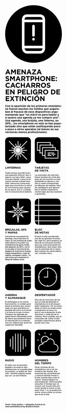 """Algunos """"cadáveres"""" digitales que los smartphones han dejado www.zerolistillos.es #infografia #infographic"""