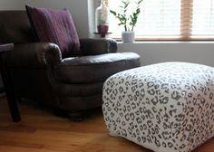 #DIY sharpie snow leopard fabric