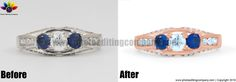 Photo editing service and photo retouching services for photographers. Outsource your edit pictures, color correction of jewelry, product and real estate. Photo Retouching Services, Photo Jewelry, Photo Editor, Rings, Photography, Photograph, Ring, Fotografie, Jewelry Rings