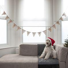 Christmas burlap bunting