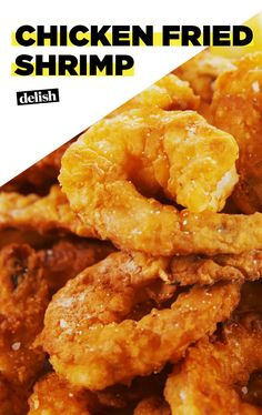 Chicken Fried Shrimp Will Make You Forget All About Steak. Get The Recipe At Fried Shrimp Recipes, Shrimp Dishes, Fish Dishes, Fish Recipes, Seafood Recipes, Chicken Recipes, Cooking Recipes, Recipe Chicken, Lasagna Recipes