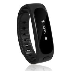 TechComm Water-Resistant Fitness Activity Tracker with Sleep Monitor, Bluetooth, Call and Text Notifications, Pedometer, Remote Camera and Remote Music - Black Fitness Activity Tracker, Fitness Activities, Fitness Tracker, Fitness Motivation Pictures, Weight Loss Motivation, Weight Loss Images, Bouldering Gym, Remote Camera, Workout Pictures