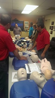 Happy Friday everyone! Finishing the week with another employee CPR, first aid and OSHA bloodborn pathogen class.