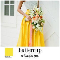 Buttercup Yellow - Wedding Colors - Wedding Planning - A Hue for Two | www.ahuefortwo.com