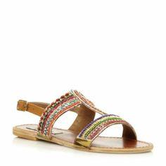 STEVE MADDEN Multi GILDEDD - Beaded T-Bar Sandal