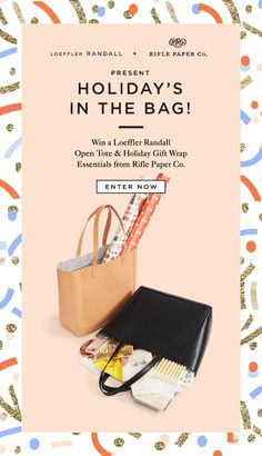 Win a loeffler randall open tote & holiday gift wrap essentials from rifle paper co. Newsletter Layout, Email Layout, Email Newsletter Design, Web Layout, Design Layouts, Website Layout, Email Template Design, Email Templates, Rifle Paper