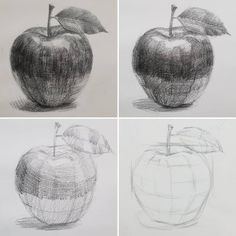 drawings Apples during the basic course . - -Jolly drawings Apples during the basic course . - - 21 Light Shadow Object Pencil Drawing Ideas 61 Ideas for fruit drawing pencil sketches The 26 Cup Pencil Drawing Ideas اسكندريه ليه ( Shading Drawing, Contour Drawing, Basic Drawing, Drawing Skills, Painting & Drawing, Drawing Ideas, Pencil Art Drawings, Art Drawings Sketches, Pencil Drawing Tutorials