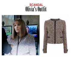 "On the Blog: Susanne Thomas' (Lena Dunham) tailored tweed zip jacket blazer | Scandal (Ep. 416) - ""It's Good to be Kink"" #tvstyle #tvfashion #outfits #TGIT #gueststar"