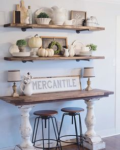 Farmhouse table plans & ideas find and save about dining room tables . See more ideas about Farmhouse kitchen plans, farmhouse table and DIY dining table Rustic Farmhouse Decor, Rustic Decor, Farmhouse Kitchens, Farmhouse Design, Farmhouse Ideas, Rustic Buffet, Farmhouse Furniture, White Furniture, Vintage Farmhouse