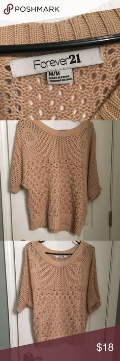 Forever 21 short sleeve sweater Medium EUC Gently worn, EUC Forever 21 Sweaters Crew & Scoop Necks