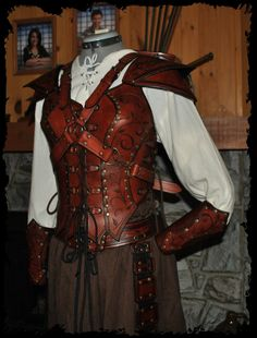 archer female leather armor by Lagueuse.deviantart.com on @DeviantArt