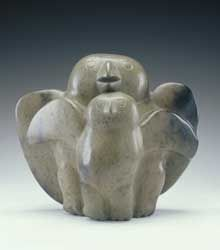 Kenojuak Ashevak's sculpture Two Birds, c. 1969, gift of Deborah and George Cowley, part of the National Gallery of Canada collection.