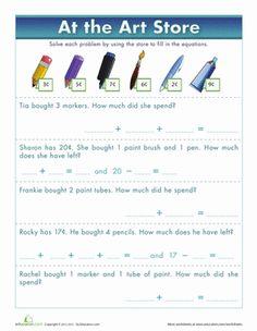 math worksheet : pet store math  pet store worksheets and math worksheets : Grocery Store Math Worksheets