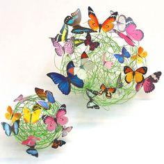 Sammenfiltret tråd med sommerfugle - Sløjd-Detaljer
