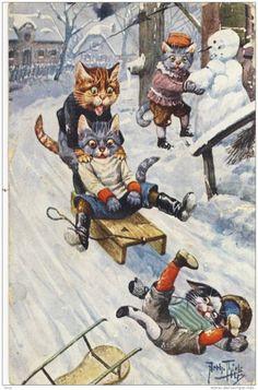 Немецкий художник Carl Robert Arthur Thiele часть 2 - Коты, кошки, собаки и…