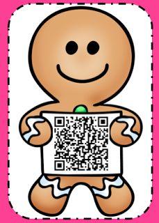 Fun in K/1: Gingerbread Man QR Code Scavenger Hunt