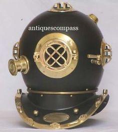 "Marine Deep Sea Diving Divers Helmet ""U.S.NAVY DIVING HELMET - MARK V""  Size - 42 x 35 x 43 cm."