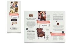 Antique Mall Brochure Illustrator Template by Graphic Design Templates, Graphic Design Print, Brochure Design, Brochure Template, Brochure Ideas, Brochure Inspiration, Page Layout, Layouts, Poster Layout