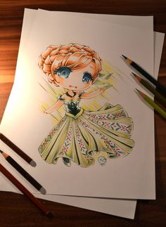 Chibi Princess Anna by Lighane on DeviantArt