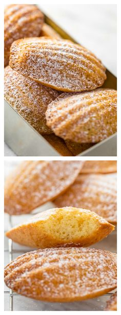 Classic French Madeleines Recipe - Baker by Nature - - Classic French Madeleines Recipe – Baker by Nature **FOOD LOVE** I'm teaching you exactly how to make Classic French Madeleines! They taste just like the ones you'd find in a Parisian boulangerie! French Desserts, Just Desserts, French Food, Madeleine Recipe, Dessert Oreo, French Pastries, Cookie Recipes, Baking Recipes, Sweet Tooth