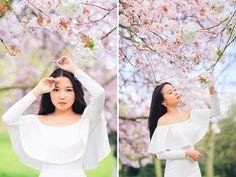 spring sakura cherry blossom fashion portrait asian beauty photo shoot london regents park _02