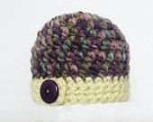 CROCHET PATTERN Bulky Button Flap Beanie (7 sizes included from preemie-adult) Instant Download
