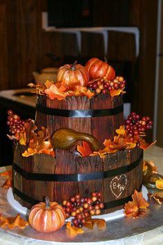 Harvest Time Wedding Cake