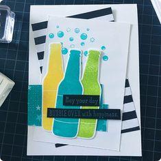 Mannen kaarten maken moeilijk? ik vind van niet.#stampinup #stampinup2018 #Stampin'Up! #Stampin'Up!2018 #cardmaking #diy #kaartenmaken #papercraft #bubbleover