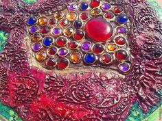 """Купить Вешалка для мелочей """"Гранат"""" - разноцветный, ключница, вешалка для мелочей, гранат, восток, этно, стразы"""