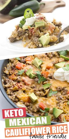 Hands down the easiest keto meal you will ever make! Dig into this easy one pan keto Mexican cauliflower rice recipe. Your whole family will love it! So easy to make and only net carbs per serving recipes mexican Low Carb Mexican Cauliflower Rice Rice Recipes, Mexican Food Recipes, Low Carb Recipes, Beef Recipes, Cooking Recipes, Healthy Recipes, Soup Recipes, Dinner Recipes, Shrimp Recipes