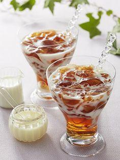 Furufuru straight tea jelly shared by Ʈђἰʂ Iᵴɲ'ʈ ᙢᶓ Cold Desserts, Asian Desserts, Dessert Drinks, Cafe Food, Food Menu, Sweets Recipes, Cooking Recipes, Japan Dessert, Food Flatlay