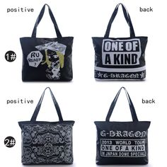 Kpop Street G Dragon Hiphop Oversize Tote Shoulder Handbag Bag Shopper 16*13'' #Generic #ShoulderBag