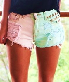 Adorable shorts, love the studs and colors