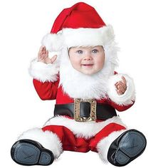 Costumes For All Occasions Santa Baby - Kleinkind Rezepte Baby Christmas Costumes, Halloween Bebes, Animal Halloween Costumes, Santa Costume, Cute Costumes, Girl Costumes, Christmas Outfits, Christmas Parties, Halloween Night