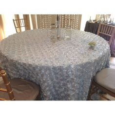"60"" Premier Round Table Cloth - Perfect Choice for wholesale round table cloths for your wedding, events, Banquets, Can be also used as round table toppers when table skirting used. Premier line round table cloths are available in 10 + Fabrics made of high quality polyester available, all orders are cut and made upon order"