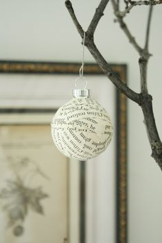 Christmas Project- would be cute to have the kids to do with scraps of their own handwriting and messages.