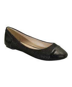 Black Aimee Flat #zulily #zulilyfinds