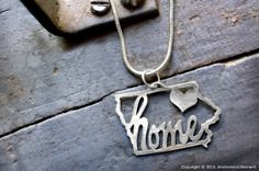 Iowa – My Heart is Home | Anatomical Element Sterling silver, hand sawn. MUST HAVE!!!