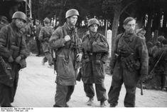 German paratroopers. France , Normandie June 1944