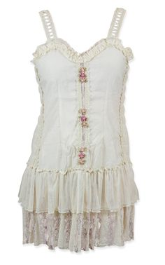 Fleurinda Dress - Cream Flower [003678] only 39.95. The retail chain I work at doesnt even have dresses this pretty for that price.