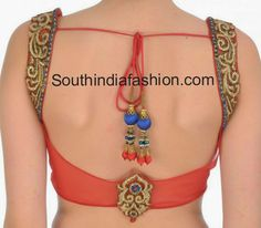 Low Back Neck Net Saree Blouse