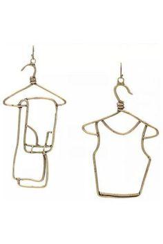 Designer Earrings For Women - Rosie Assoulin hangers earrings . Cute Jewelry, Metal Jewelry, Jewelry Accessories, Jewelry Design, Geode Jewelry, Yoga Jewelry, Jewelry Box, Jewlery, Funky Earrings