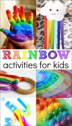 Here are some rainbow activities for kids to get them creating, moving and working on important skills. So many colorful ways to learn and play!