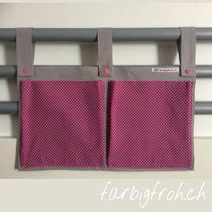 www.farbigfroh.ch #betttasche #betttaschen #bettutensilo Pray, Projects, Bags