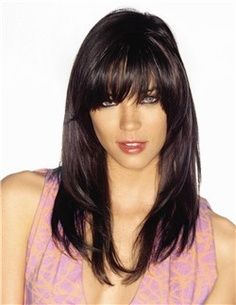 So thinking about bangs like this when my hair gets alittle longer :)
