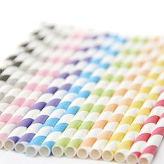 Striped Paper Straws - shop by price
